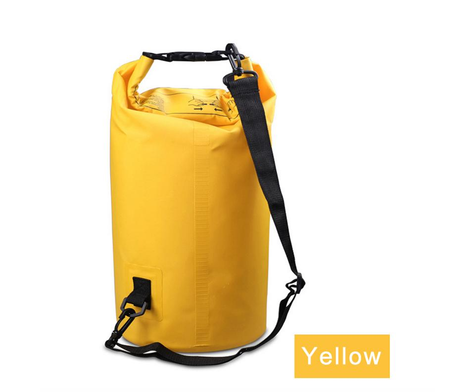 Water Sports - Waterproof Dry Bag For Rafting, Kayaking, Sailing, Canoeing (2L, 3L, 5L) Yellow