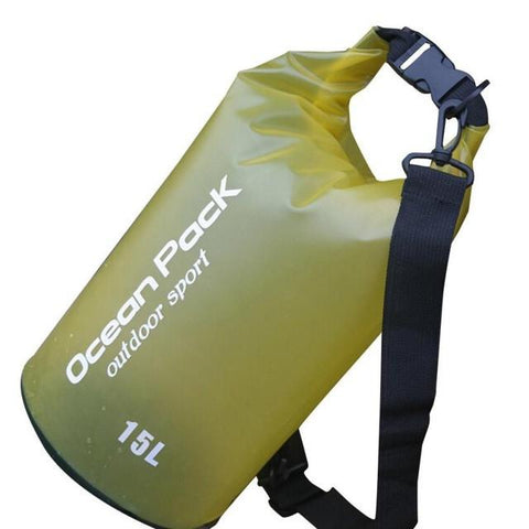 Water Sports - Waterproof Dry Bag For Swimming, Rafting, Kayaking, Sailing (15L) Yellow