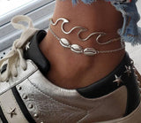 Image of Waving Sea Shell Anklet Bracelets