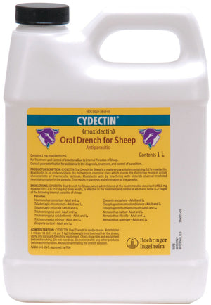 CYDECTIN® SHEEP .1% DRENCH 1000 ML BOTTLE