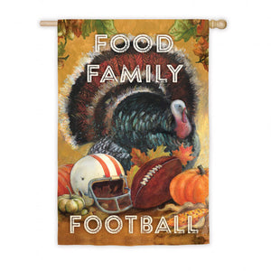 Food Family Football Garden Flag