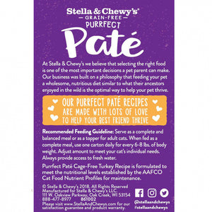 Stella & Chewy's Purrfect Pate Cage Free Turkey Recipe Wet Cat Food