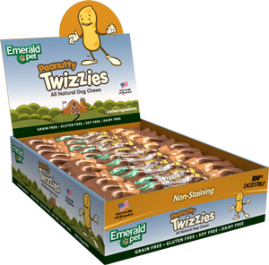 Emerald Pet Peanutty Twizzies Natural Dog Chew