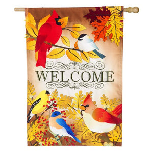 Autumn Song Bird House Flag