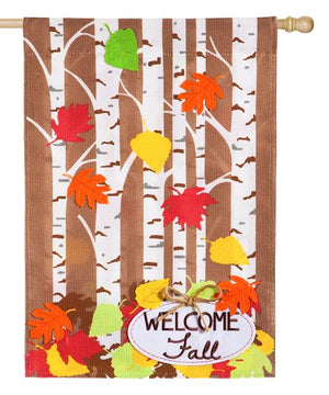 Autumn Birch House Flag
