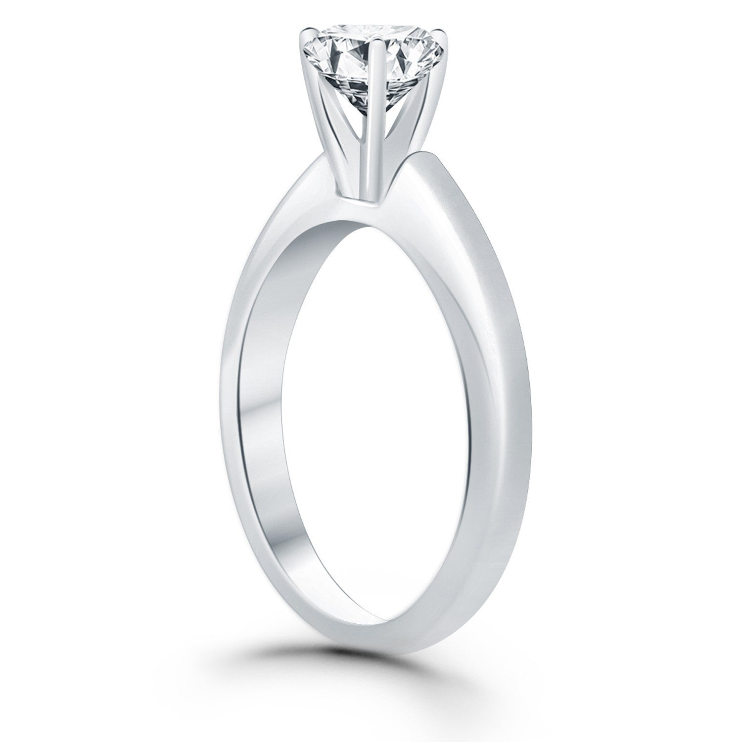 diamond cut solitaire carat cathedral center engagement product shown tapered rings round with ring a