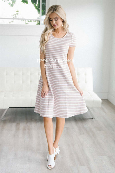The Jenny Modest Dresses vendor-unknown Dusty Pink XS