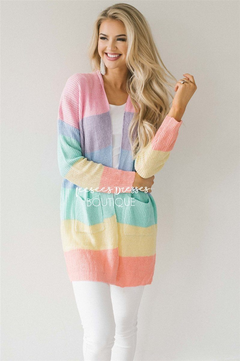Cutie Color Block Cardigan