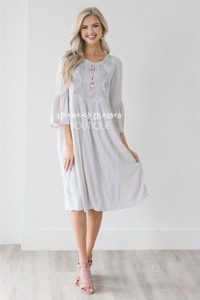 The Kostyn Modest Dresses vendor-unknown S Light Gray