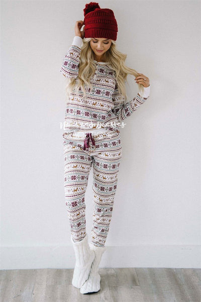 Fair Aisle Thermal Jammie Set New Year SALE vendor-unknown Ivory S