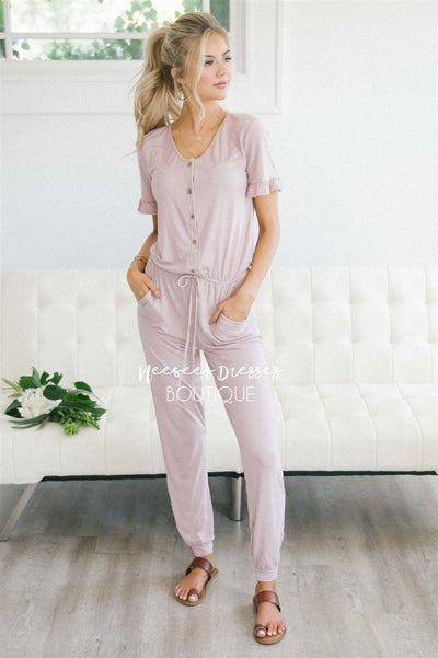 The Juno Jumpsuit Modest Dresses vendor-unknown S Dusty Pink