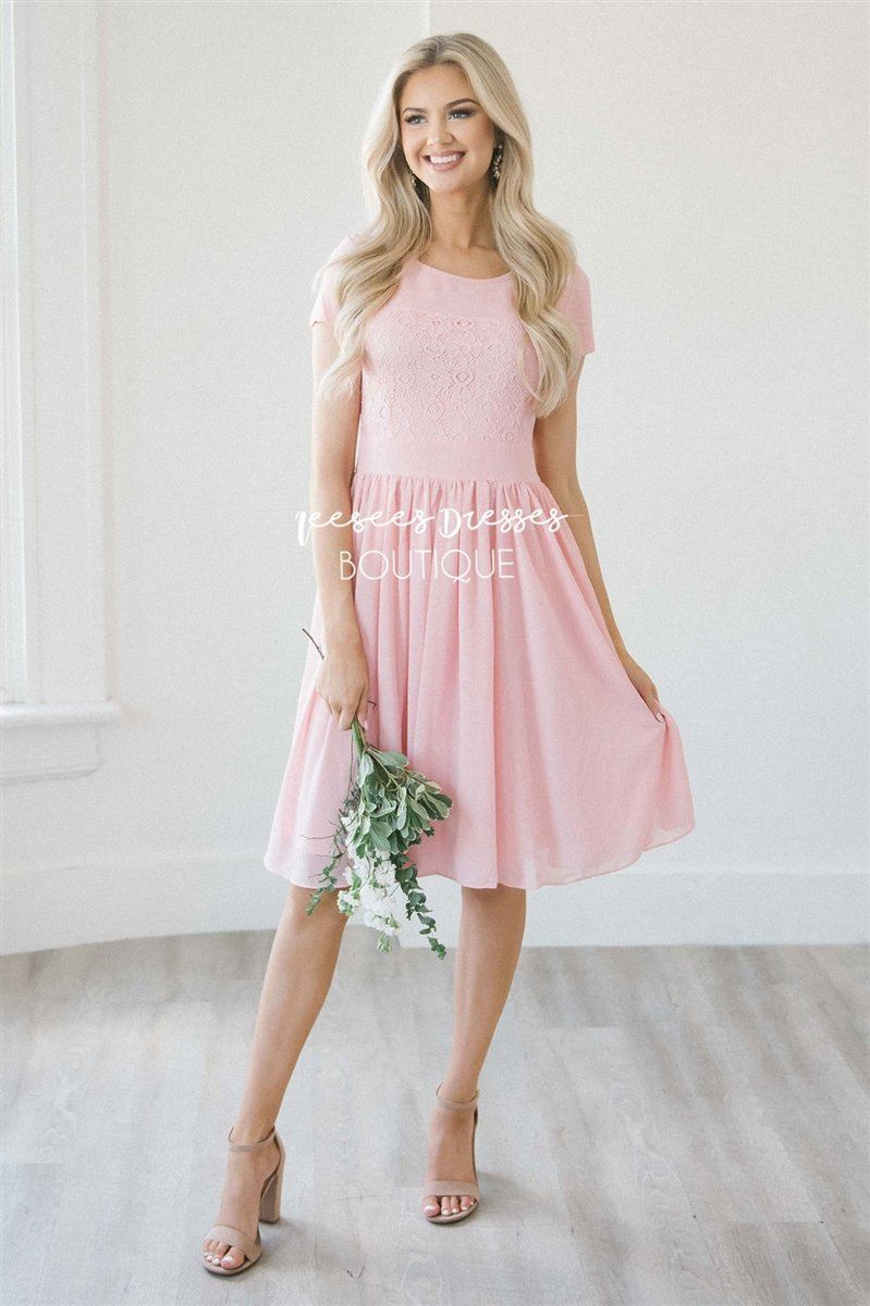 The Isabel Modest Dresses Mikarose Pink XS