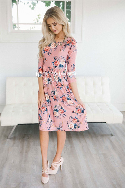 The Taisie New Year SALE vendor-unknown Pink Cute Floral S
