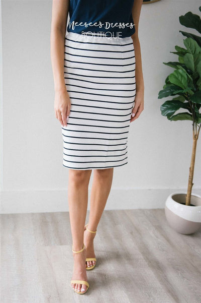 Perfect Fit Navy & White Skirt