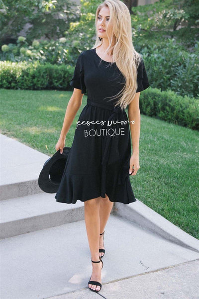 The Joan Modest Dresses vendor-unknown Black S