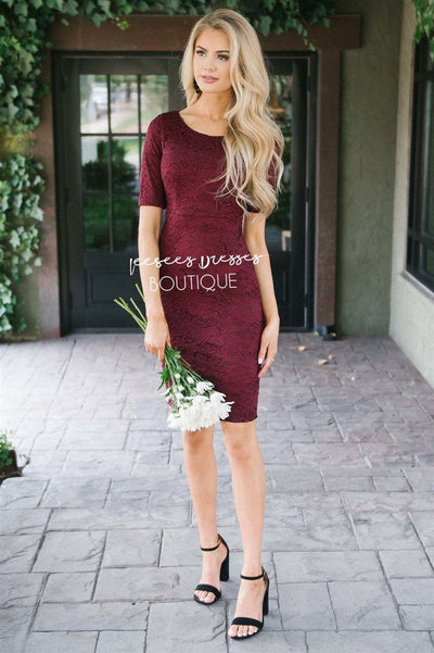 The Aleana Modest Dresses vendor-unknown Wine XS