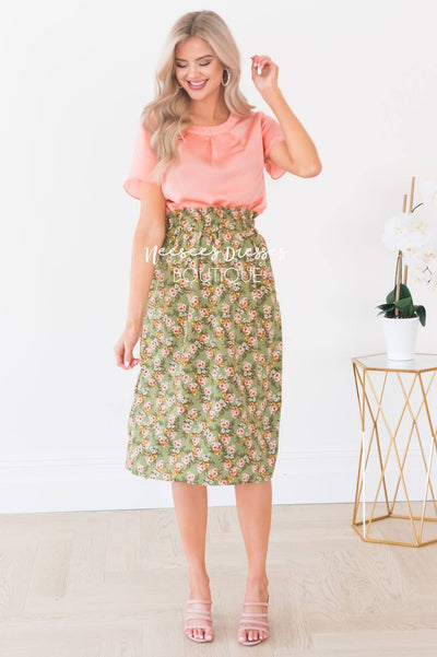 You're So Lovely Modest Skirt Skirts vendor-unknown