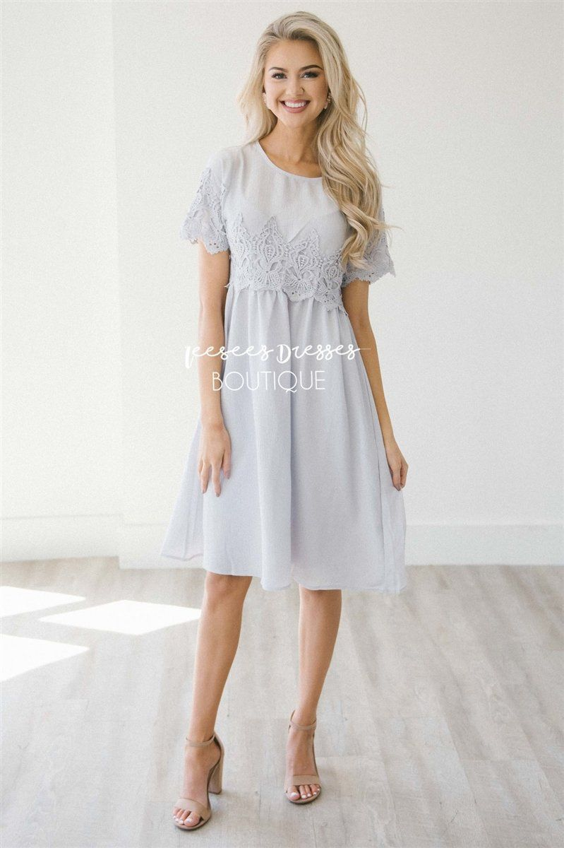 The Remy Modest Dresses vendor-unknown S Soft Lilac Silver