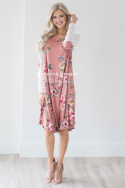 The Wren Modest Dresses vendor-unknown S Dusty Pink