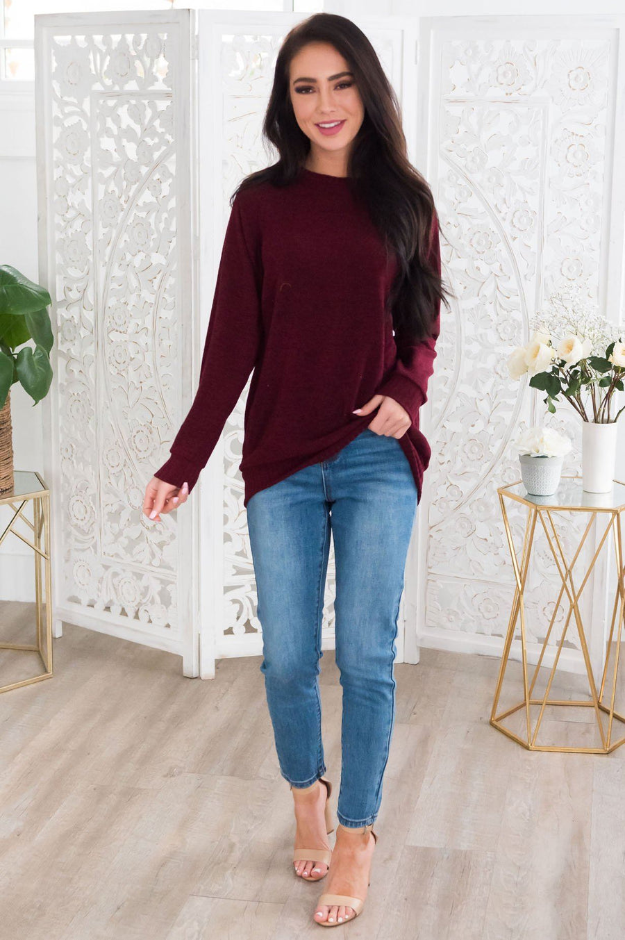 Spring Forward Modest Sweater