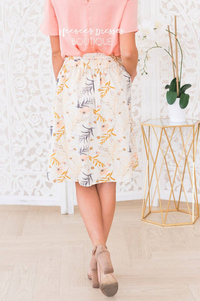 My Whole Heart Modest Floral Skirt Skirts vendor-unknown