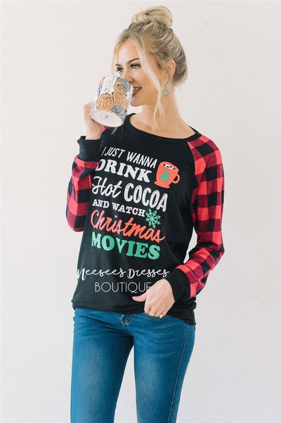 Hot Cocoa & Christmas Movies Sweater