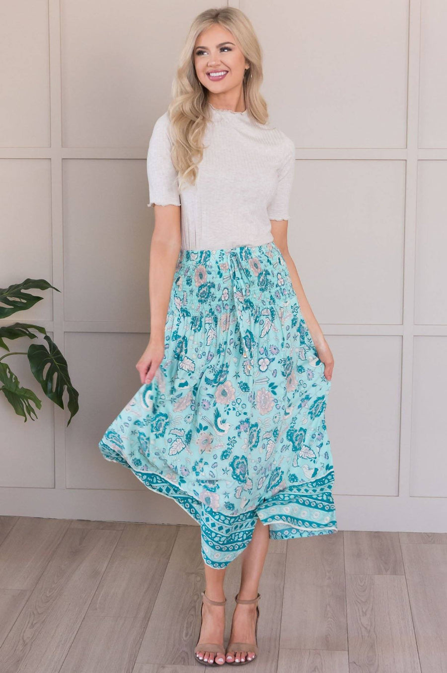 Twirl With Me Modest Bohemian Skirt
