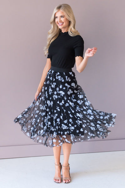 Forever Love Song Modest Tulle Skirt NeeSee's Dresses