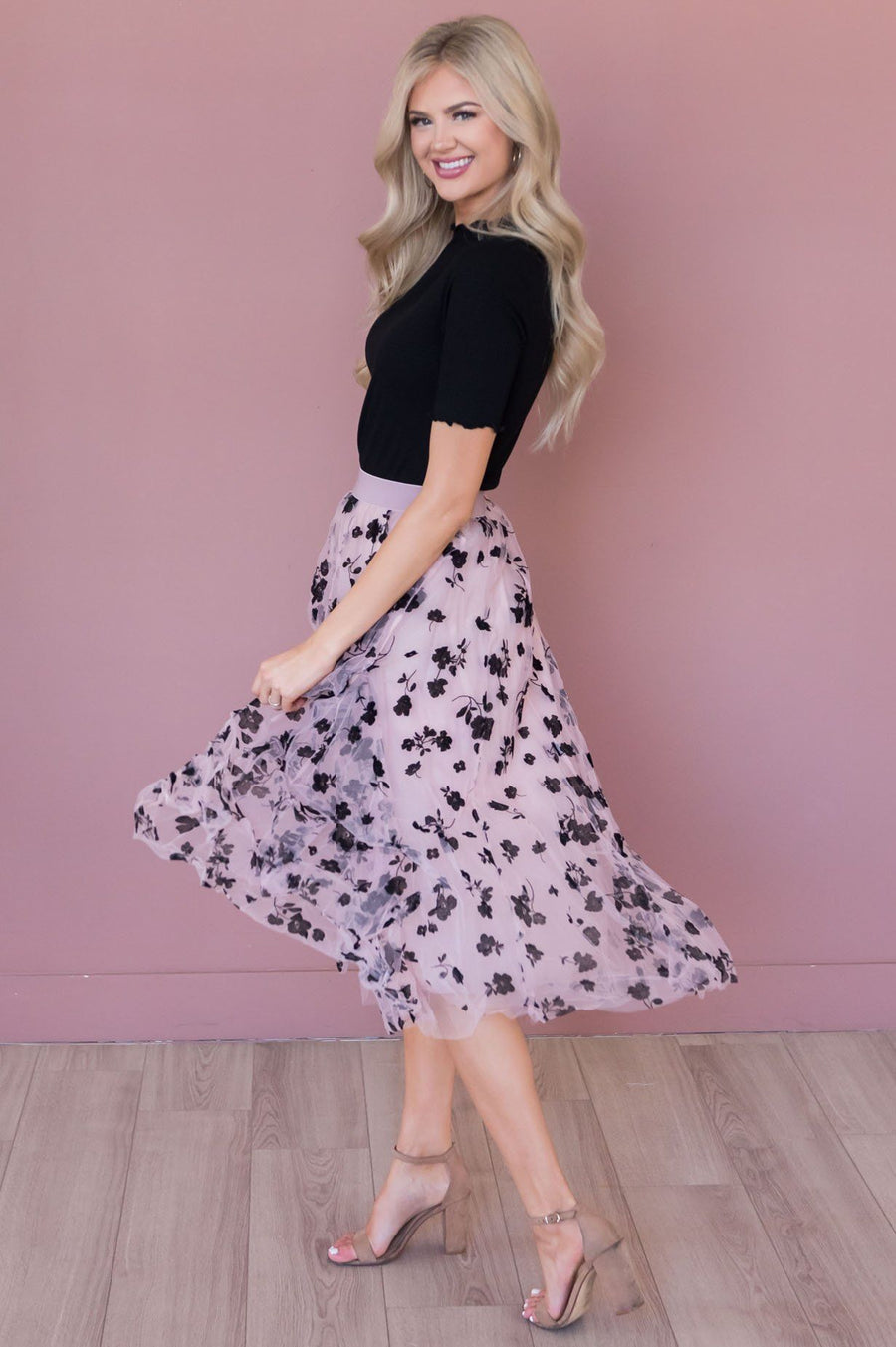Forever Love Song Modest Tulle Skirt