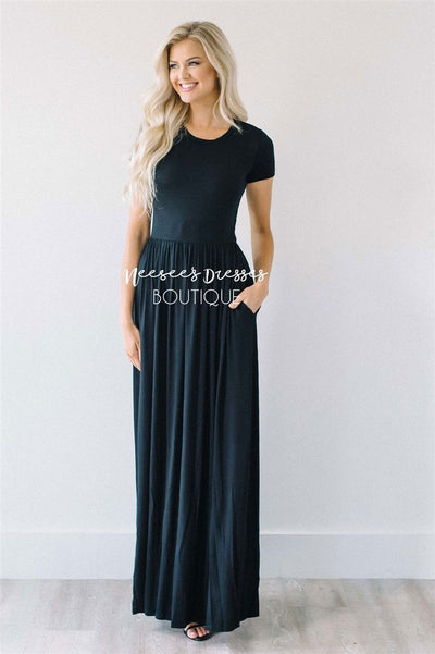 The Harper Maxi Dress Modest Dresses vendor-unknown Black S