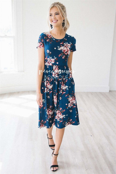 The Melody in Short Sleeves Modest Dresses vendor-unknown