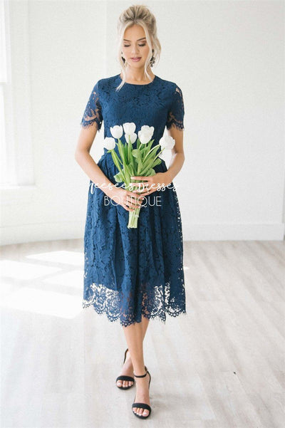 The Vivienne Modest Dresses vendor-unknown S Navy