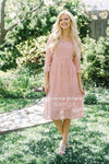 Day Dreamer Lace Dress in Dusty Mauve Modest Dresses vendor-unknown Dusty Mauve Small/Medium