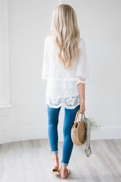 Day Dreamer Lace Blouse Tops vendor-unknown