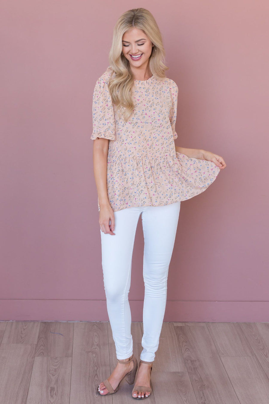 Fearless Heart Floral Blouse