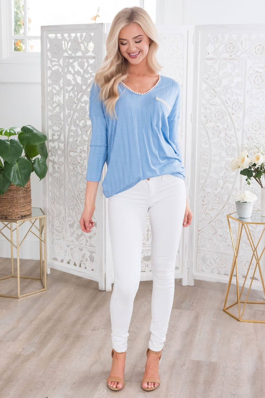 Into The Sunshine Modest Top