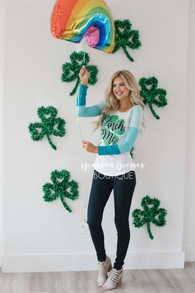 Pinch Me St Patrick's Day Top Tops vendor-unknown S White