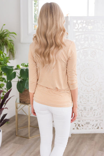 Loved Modest 3/4 Length Sleeve Tee Tops vendor-unknown