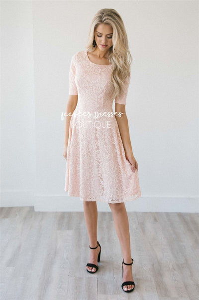 The Sloan Modest Dresses vendor-unknown Whisper Blush XS