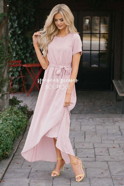 The Maleah Modest Dresses vendor-unknown Dusty Pink S