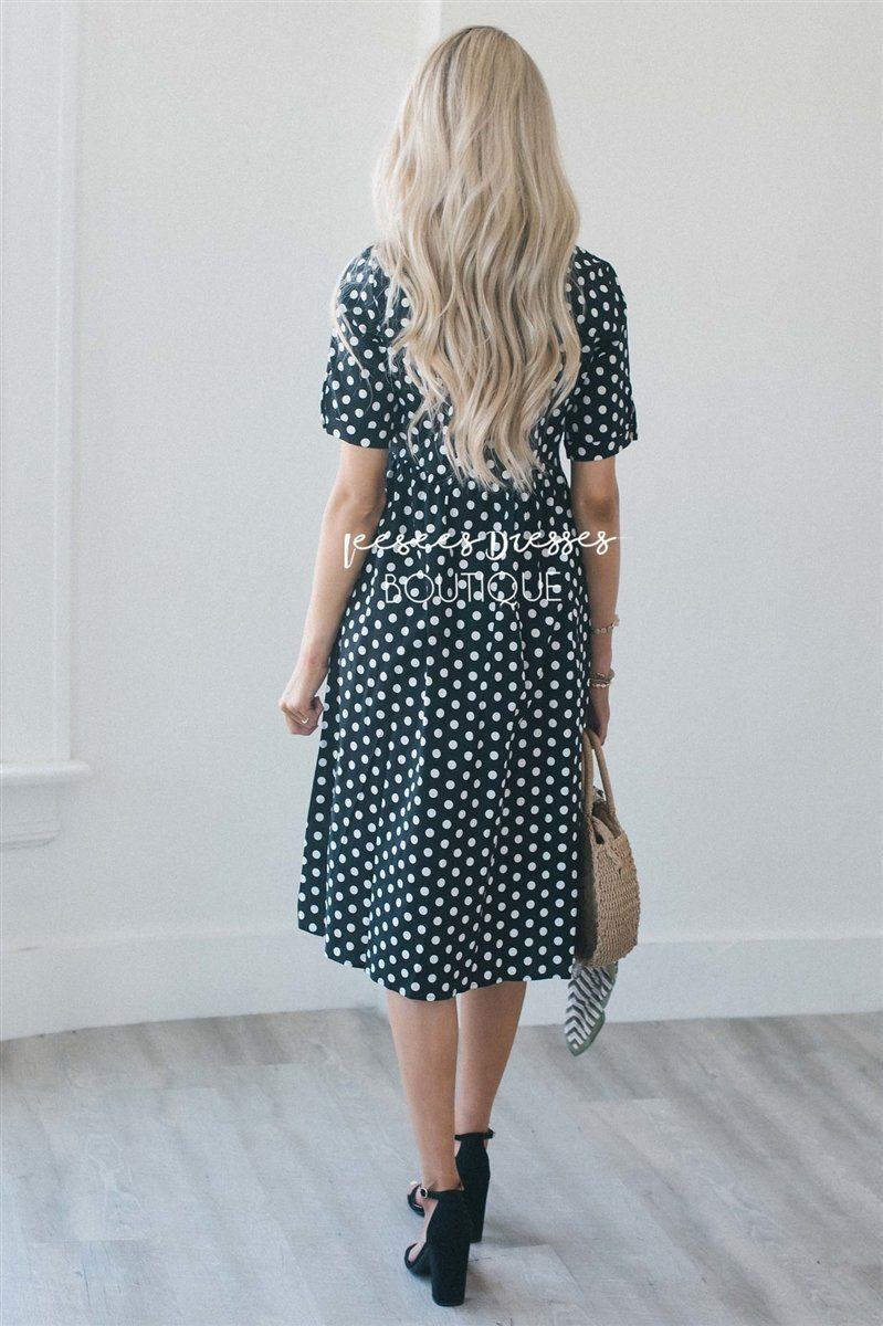Law + Gospel // in Navy Blue Polkadots and Yellow!   Fresh