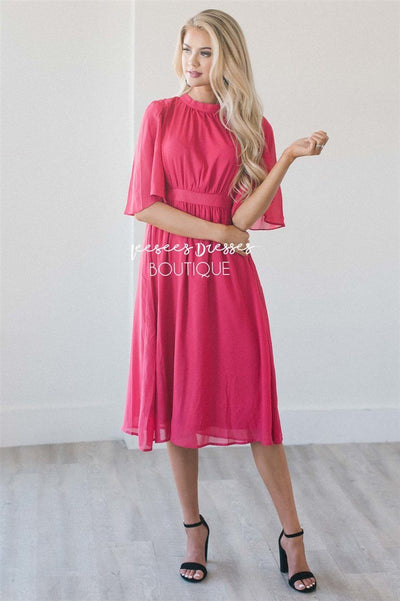 The Kim Modest Dresses vendor-unknown Bright Fuchsia S