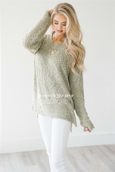 Cozy Fall Popcorn Pullover Round Neck Sweater Tops vendor-unknown