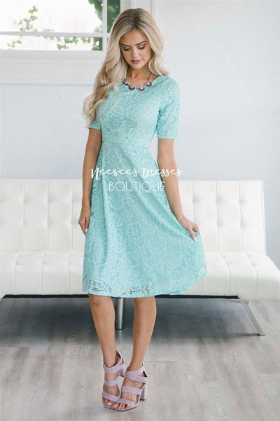 The Stella Modest Dresses vendor-unknown Mint XS