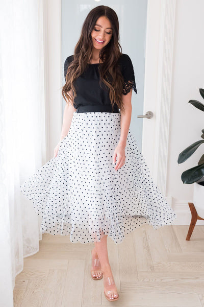 Connect the Dots Modest Tulle Skirt NeeSee's Dresses