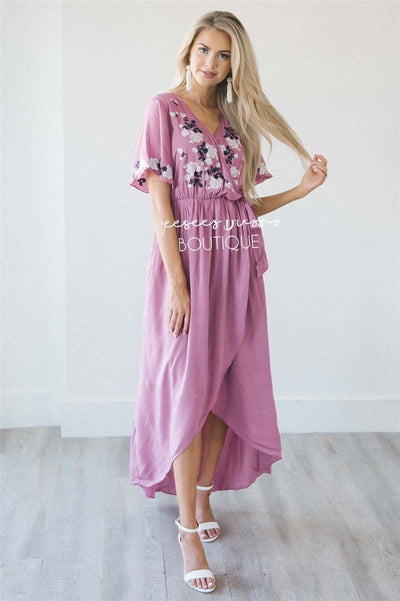 The Sharon Modest Dresses vendor-unknown S Dusty Orchid