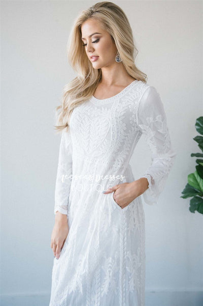 Day Dreamer Lace Full Length Dress Modest Dresses vendor-unknown