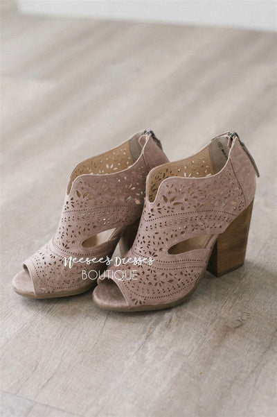 Santana Taupe Booties Accessories & Shoes vendor-unknown Taupe 5.5