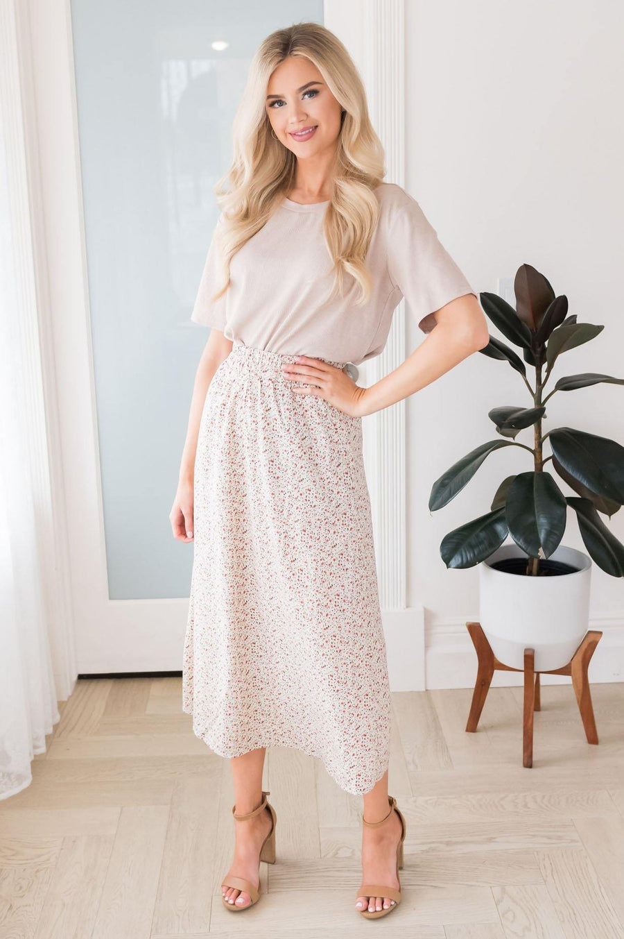 Always Cherished Floral Modest Skirt