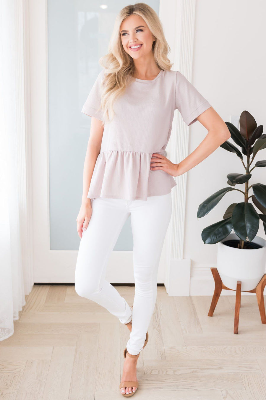 Never Too Late Tiered Top